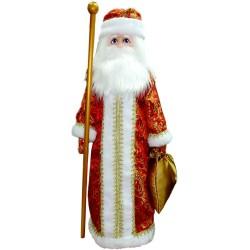 Игрушка мягкая Дед Мороз на подставке (высота 70 см.)