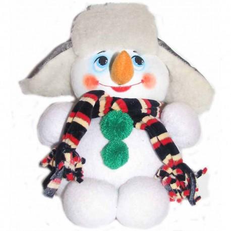 Игрушка мягкая Снеговик большой (высота 30 см.)