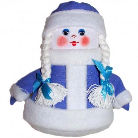 Кукла-подвеска Снегурочка (высота 15 см.)