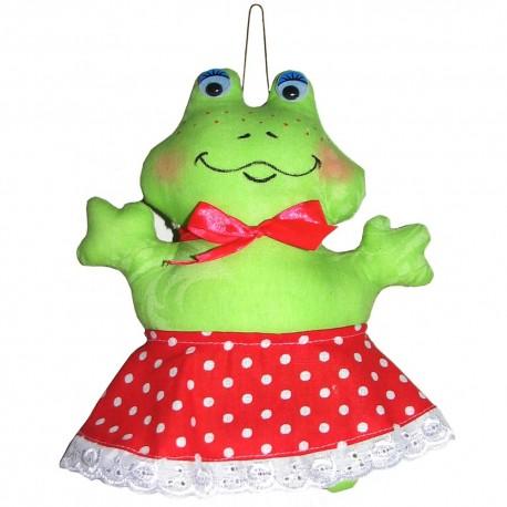 Кукла-подвеска Лягушка (высота 20 см.)