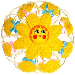 Оберег домашний Солнце на малом круге (высота 20 см.)