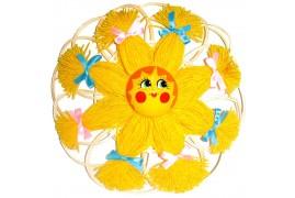 Оберег домашний Солнце на среднем круге (высота 25 см.)