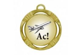 """Шуточная медаль """"Ас"""" (диаметр: 70 мм)"""